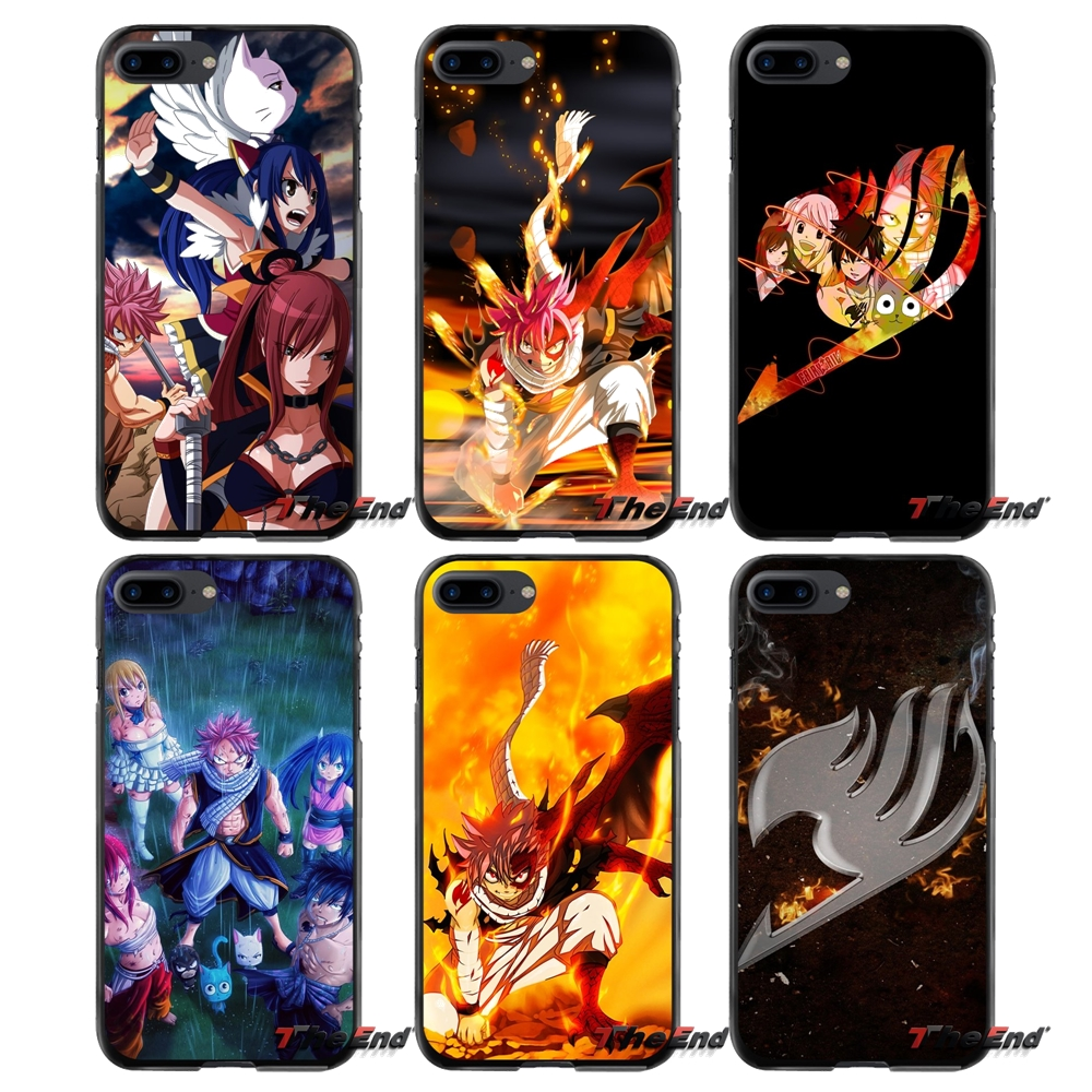 For Apple iPhone 4 4S 5 5S 5C SE 6 6S 7 8 Plus X iPod Touch 4 5 6 Accessories Phone Shell Covers cute anime FAIRY TAIL