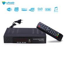 цена на Vmade Digital Terrestrial Satellite TV Receiver Combo DVB-T2 DVB-S2 1080P HD TV Tuner Receptor H.264 MPEG-2/4 set top box