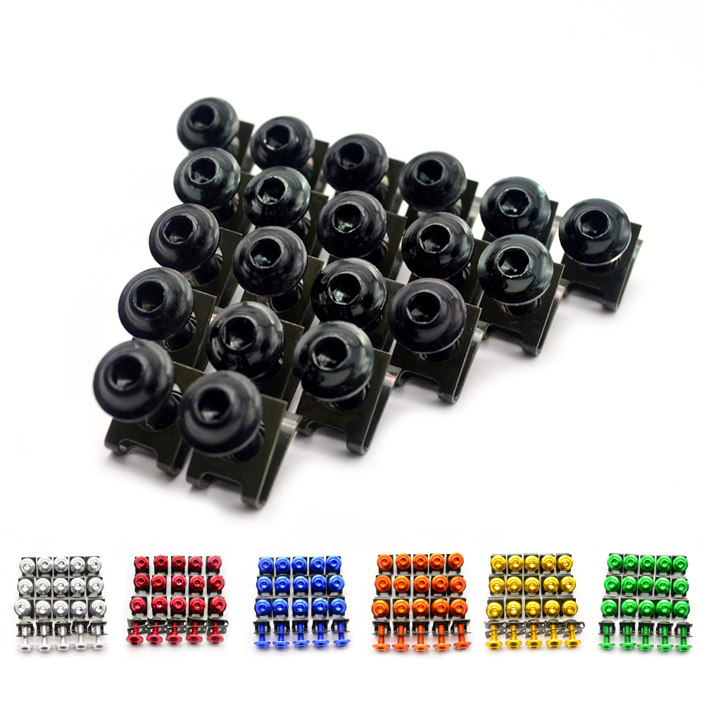 20PCS M6 Universal 6mm CNC motorcycle body work fairing bolts screws For KTM 990 Super Duke R 125 Duke ABS 125 150 144 SX EXC