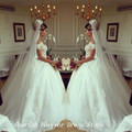 Top Selling And Quality Free Shipping latest design wedding dress romantic ball gown bridal Royal Luxury beads long gowns HS305