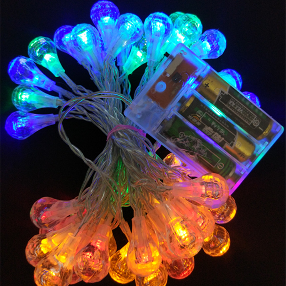 YIYANG Raindrop Fairy String Light 3M 30 LED Battery Powered String Lamp Outdoor Wedding ...