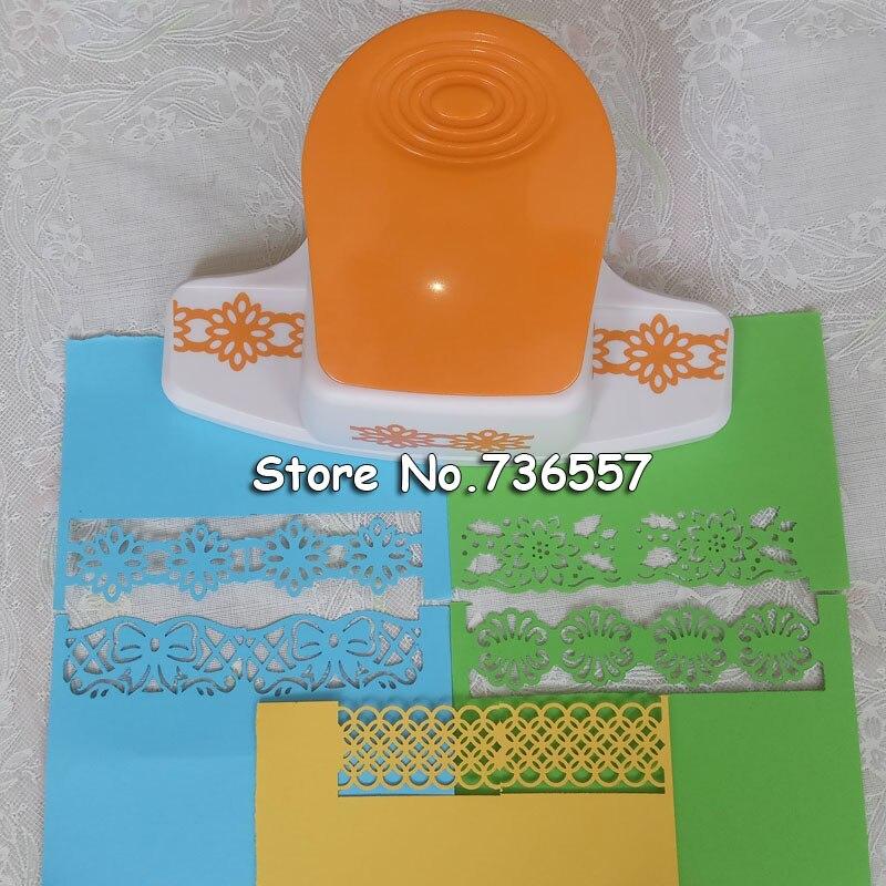 Grand tridimensionnel fantaisie frontière gaufrage poinçon scrapbooking à la main bord dispositif bricolage mousse papier cutter artisanat cadeau YH10