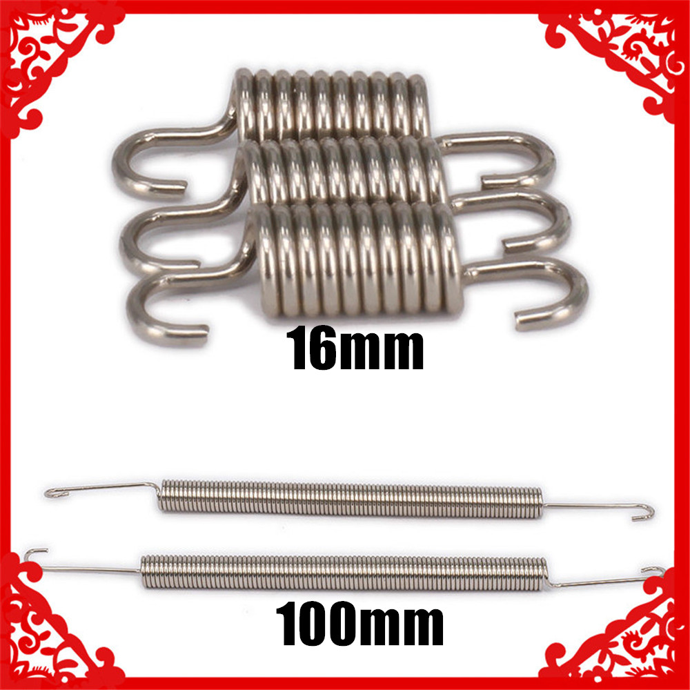 2pcs Long Exhaust Pipe Springs for RC 1:8 1:10 Models Car N10008 Silver