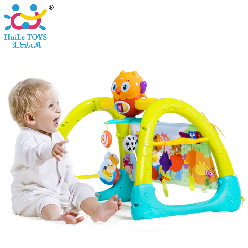 HUILE TOYS 2105 Baby Toys 5 in 1 Play Gym Baby Toy Play Mat & Sleeping Bear Educational Crawling Activity Mat Play Gym Carpet electric educational inchworm with music light toddler learning machine toy toy musical instrument huile toys 927