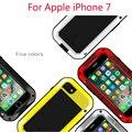 Para apple iphone 7 protectora caso amor mei potente caja de metal de aluminio a prueba de golpes hermética al polvo para iphone 7 plus caso trasero
