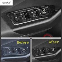 Lapetus Accessories Fit For Volkswagen T-Roc T Roc 2018 2019 Inner Door Armrest Window Switch Control Panel Molding Cover Trim