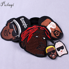 Hippie Patches Embroidered Metal Rock Bands Patch for Clothing Iron On Clothes Applique Stripe Negro Badge F