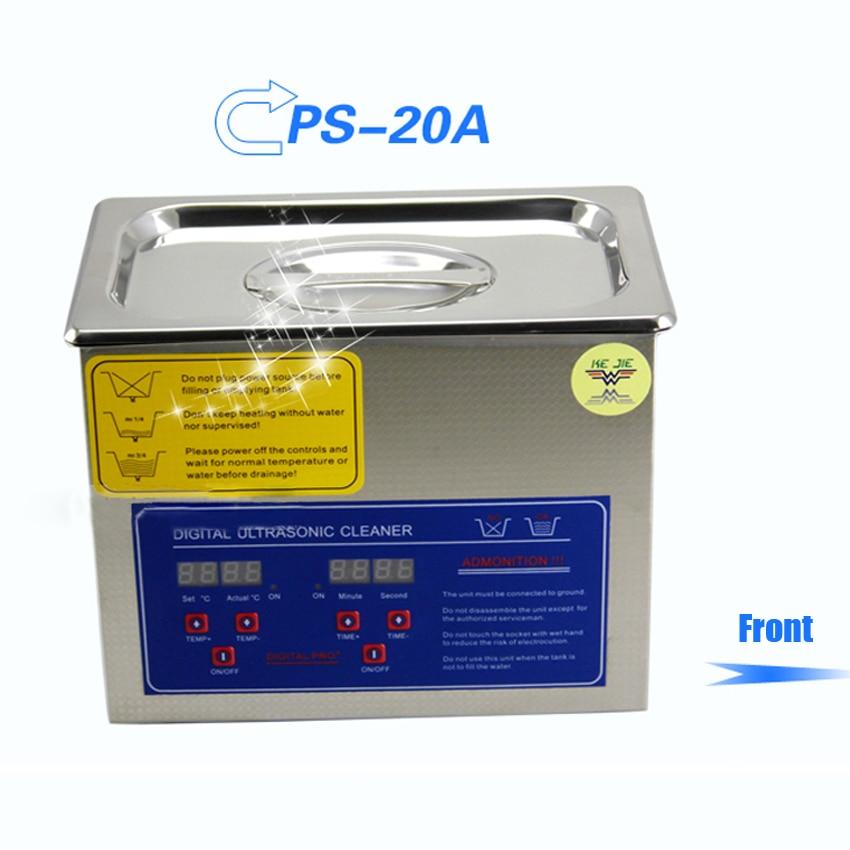 1PC dunia AC110V / 220V 120W pembersih ultrasonik digital 3L PS-20A - Perkakas rumah - Foto 2