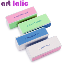 hot deal buy 10 x pro colorful 4 way nail file buffer polishing block nail art manicure nail art tools