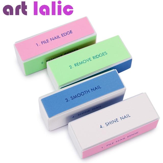 10 Pcs Professional Colorful 4 Way Nail File Buffer Polishing Block Buffering Art Manicure