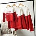 Entre padres e hijos equipo del otoño Casual ropa familiar establece con capucha de manga larga Patchwork familia madre padre hija hijo ropa