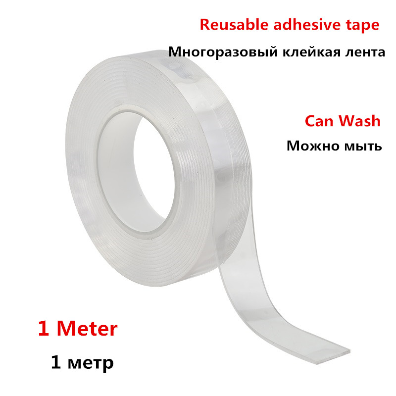 Reusable Transparent Double-sided Tape Can Washed Acrylic Fixing Tape Nano Tape No Trace Magic tape For Outdoors Home Car OfficeReusable Transparent Double-sided Tape Can Washed Acrylic Fixing Tape Nano Tape No Trace Magic tape For Outdoors Home Car Office