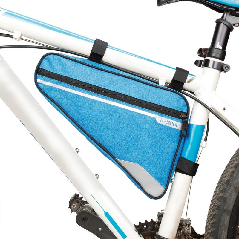 B-SOUL MTB Bike Bag Triangle Bycicle Bicycle Front Frame Tube Bag Mountain Bike Accessories Cycling Bag Panniers Bike Basket roswheel bicycle bag mtb bike front frame top tube bag cycling bags panniers accessories 600d polyester pure color series 12654