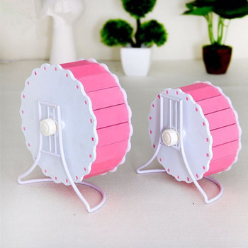 Small Pets Guinea Pig Hamster Wheel Silent roller Running Sports Round Wheel Hamster Cage Accessories Exercise Wheel for Pet Toy 3