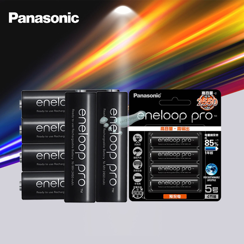 Panasonic Eneloop Original Battery Pro AA 2550mAh 1.2V NI-MH Camera Flashlight Toy Pre-Charged Rechargeable Batteries