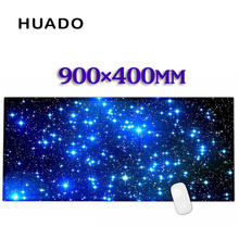Blue starry sky Rubber Gaming Mouse Pad Desk Mat For PC Laptop Computer gta 5 CS XL 900*400mm