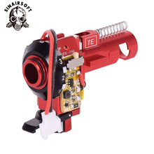 цена на Tactical PRO CNC Aluminum Red Hop up Chamber with LED For AEG M4 M16 series paintball Airsoft hunting Accessories free shipping