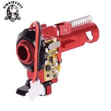 Tactical PRO CNC aluminium czerwony Hop up komora z LED Fit AEG M4 M16 dla paintball Airsoft polowanie cel akcesoria myśliwskie