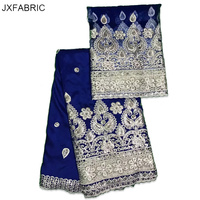 JXFABRIC New Arrival African George Fabric 2017 African Raw Silk George Fabric For Wedding Dresses Hot