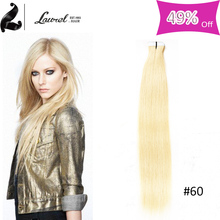 Best Tape In Hair Extensions Laurel Hair Products 8a Grade Brazilian Virgin Hair Straight Skin Weft With 16-24inch Free Shipping