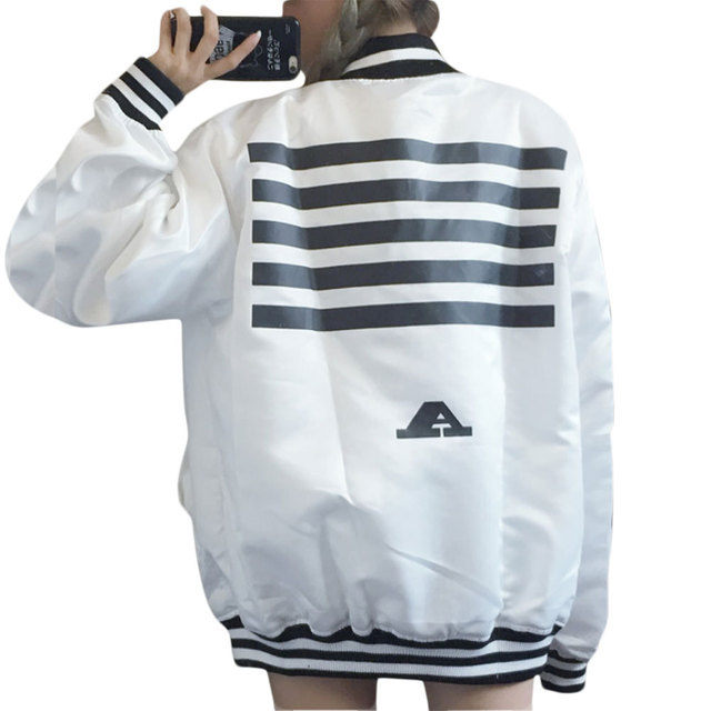 New autumn women jacket Korean loose BF Harajuku men  women long sleeve single breated jacket coat two color free shipping