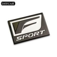 DSYCAR 1Pcs 3D Metal F-SPORT Car Stickers Logo Emblem Badge Decals Styling Decoration accessories for Frod BMW audi Lexus VW