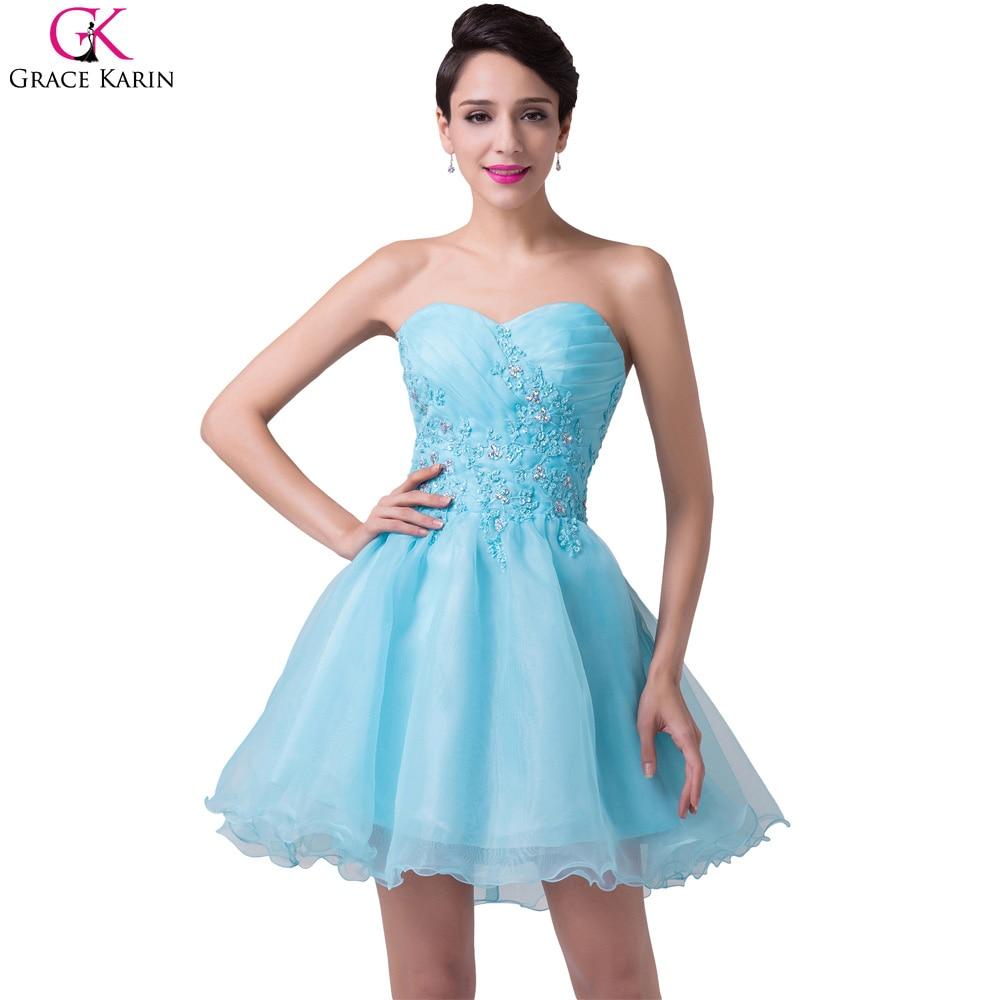 Online Get Cheap Blue Satin Cocktail Dress -Aliexpress.com ...