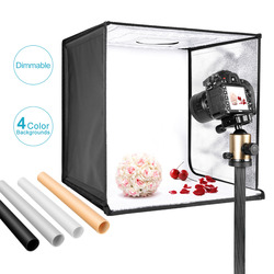 Neewer Photo Studio Light Box 20 inches Shooting Light Tent Adjustable Brightness Foldable Portable Professional Booth Table