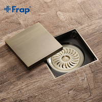 Frap Tile Insert Square Floor Waste Grates Bathroom Shower Drain Floor Drain Antique Fltro Ducha Drain Hair Invisible Y38080