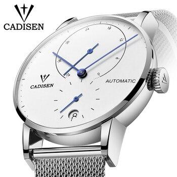 Mens Watches CADISEN 2018 Top Luxury Brand  Automatic Mechanical Watch Men Full Steel Business Waterproof Fashion Sport Watches Mechanical Watches