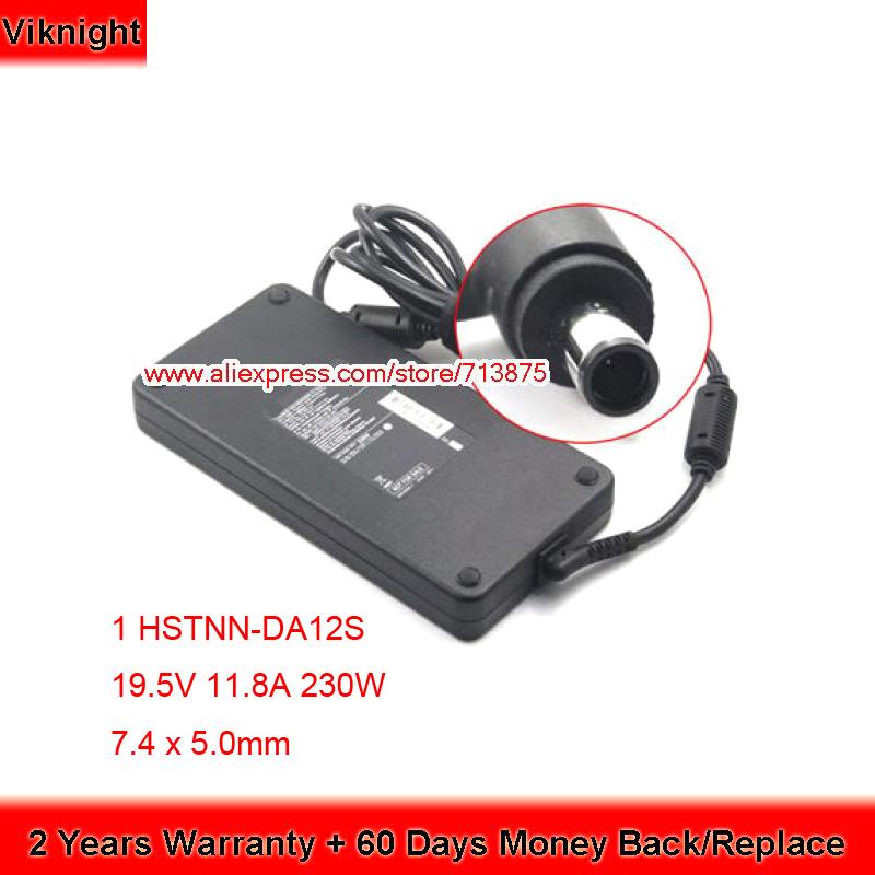 Genuine HSTNN DA12S 19 5V 11 8A 230W Smart Slim Adapter for for HP Elitebook 8460W