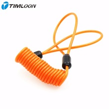 Motorcycle Scooter Security Orange Disc Lock Reminder Cable (1.55 meter)