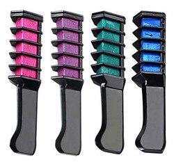 1 шт. краска для волос новый дизайн мелки для цветной мелок для волос временный цвет волос синяя краска для волос с расческой 8 цветов