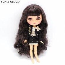 SOLEIL & CLOUD 3 Pcs / Set Noir Costume Ensemble Uniforme Jupe Costume Vêtements avec Soutien-Gorge pour 1/6 30 cm Blyth Dolls