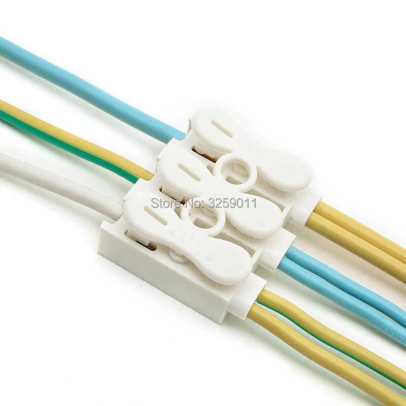1 sztuk Push typ szybkie Splice sprężyna zamka złącze przewodu styk skynka zaciskowa uniwersalne złącze dla Lampy LED ZQ-3P