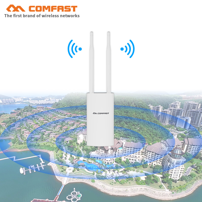 COMFAST High Power Outdoor Wireless Router CPE 500mW 300Mbps Outdoor AP Dual 5dBi Antenna WIFI Extending Network Bridge CF-EW71