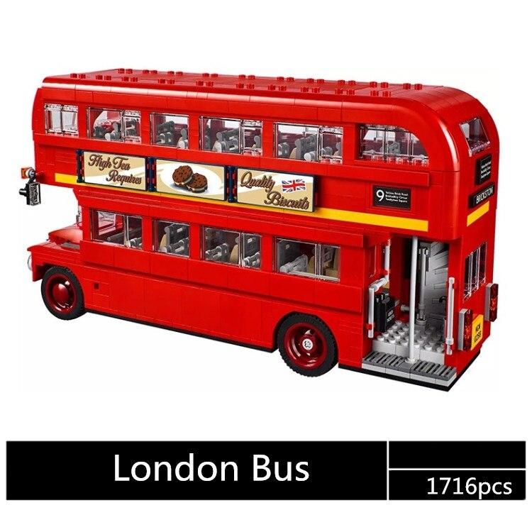 El autobús a Londres bloques de construcción conjunto 1716 piezas 10258 de 21045, regalo de cumpleaños de juguetes para los niños-in Bloques from Juguetes y pasatiempos    1