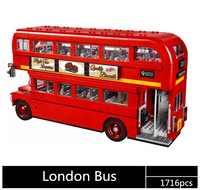 The London Bus Set Building Blocks 1716 Pcs 10258 21045 Birthday Gift Toys For Children