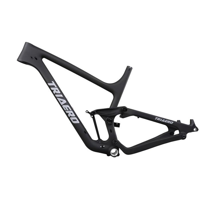 Carbon Fiber Full Suspension Mountain Bikes 27.5er Plus P1 With 148X12 Boost 130mm Travel 73mm BSA