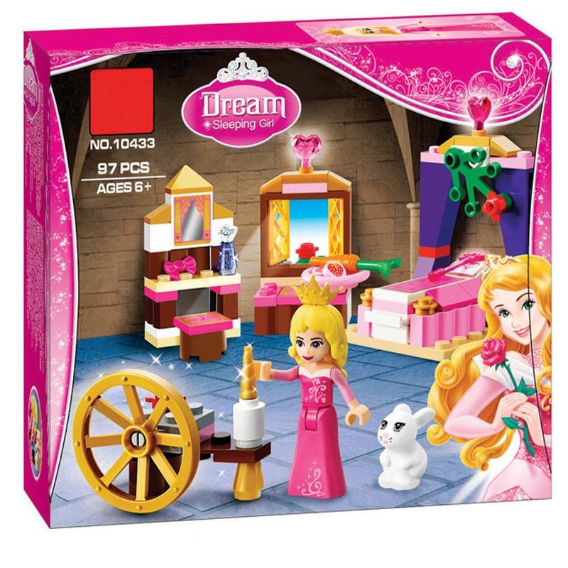 BELA Friends 10433 For Girl Sleeping Beauty Bedroom Building Blocks Sets Princess Best gift Compatible LegoINGly 41060 Xinh цена