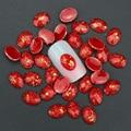 Blueness 10 pcs 3d decorações Nail Art Glitter Rhinestone Red resina Gem brocas para acessórios do prego prego acrílico Stud PJ188