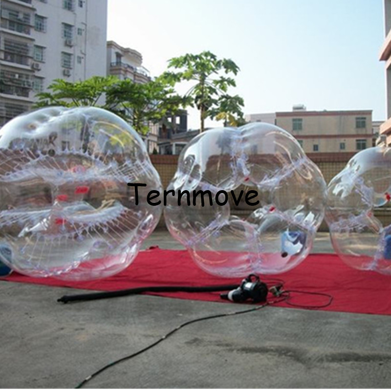 Air Football Free Shipping 1.5m Inflatable Bubble Soccer Ball Zorb Ball Plastic Balls Giant Inflatables Rubble Ball