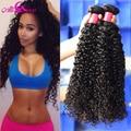 Перуанский Вьющихся Волос Плетение 3 шт. много 7а Необработанные Перуанский Девственные Волосы Курчавые Вьющиеся Волосы Роза Prosucts Перуанский Странный Вьющиеся волос