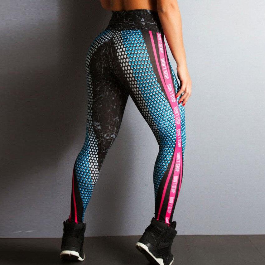 Multicolor Stripe Print Women High Waist   Leggings   Sexy Push Up Fitness   Leggings   Squat Don't Transparent Elastic Slim Jeggings
