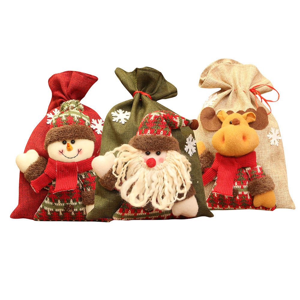 Unique Gifts For Christmas 2019: 2019 Year Merry Christmas Gift Bags Santa Claus Snowman
