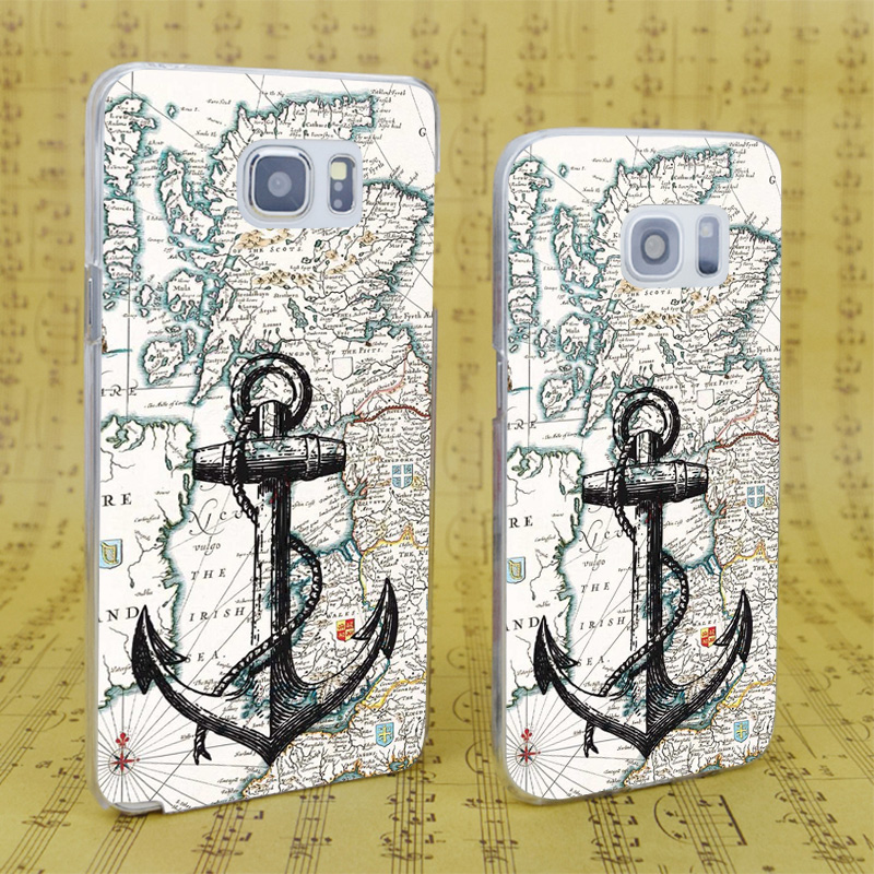 DREAM FOX B2631 Nautical Tumblr Anchor Il Transparent Hard PC Case For Samsung Galaxy S 4 5 6 7 8 Mini Edge Plus Note 3 In Fitted Cases From
