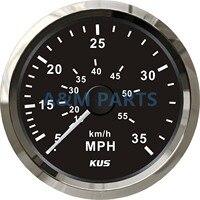 KUS Boat Speedometer Gauge Marine Speedometer Pitot Tube 12V/24V 0 35MPH 85mm