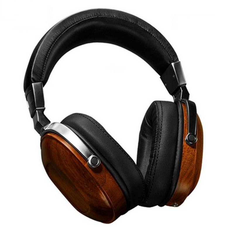 Headband Wooden Headphones 3.5mm Headset Heavy Bass Noise Cancelling Head phones for All Mobile Phone