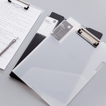 White Classic Multifunctional File Organizer Plastic Clipboard Box File Case File Folder Pen Hold Office Supplies
