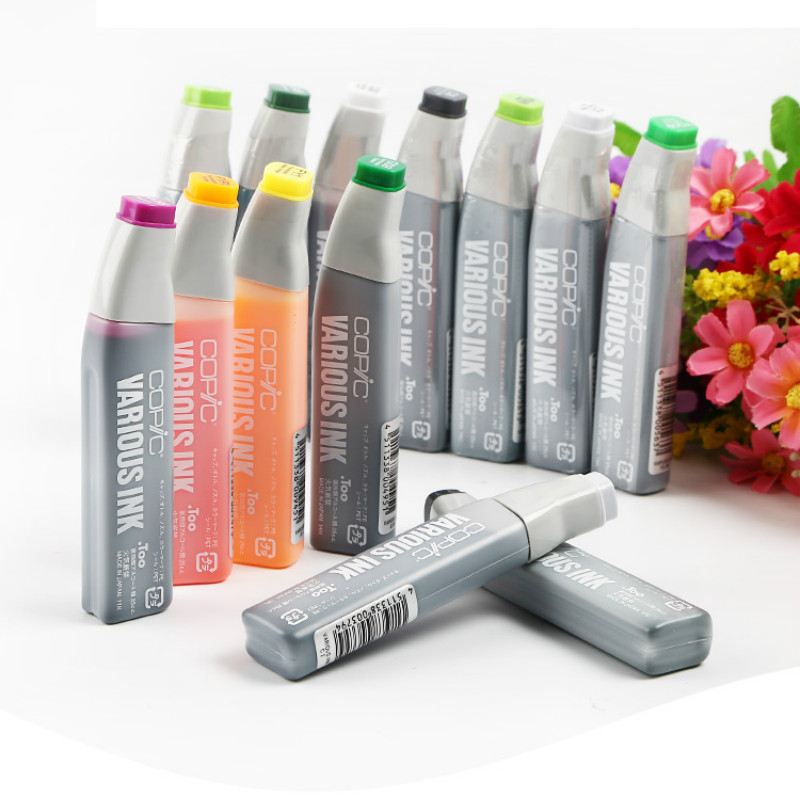 Free Shipping Japan Original Copic Marker Special Filling Ink / Marker Pen Filling Solution Repeated Filling Whiteboard  25ml